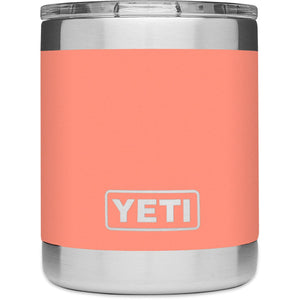 Rambler 10 oz Lowball with Standard Lid-YRAM10_Coral