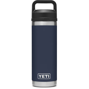 Rambler 18 oz Bottle with Chug Cap-YRAM18CHUG_Navy