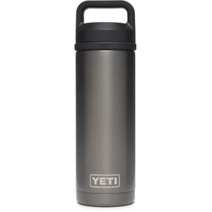 Rambler 18 oz Bottle with Chug Cap-Yeti-Graphite-Uncle Dan's, Rock/Creek, and Gearhead Outfitters