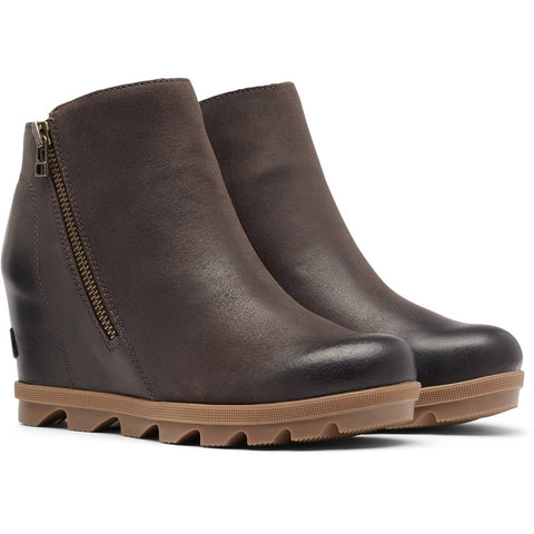 Women's Joan of Arctic Wedge II Zip Bootie - Clearance-Sorel-Ash Brown-7-Uncle Dan's, Rock/Creek, and Gearhead Outfitters