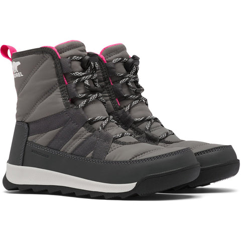 Youth Whitney II Short Lace Boot - Clearance-Sorel-Quarry-1-Uncle Dan's, Rock/Creek, and Gearhead Outfitters
