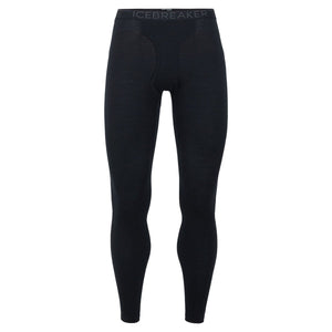 Men's 200 Oasis Leggings with Fly-Icebreaker-Black Monsoon-S-Uncle Dan's, Rock/Creek, and Gearhead Outfitters