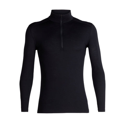Men's 200 Oasis Long Sleeve Half Zip-Icebreaker-Black-S-Uncle Dan's, Rock/Creek, and Gearhead Outfitters