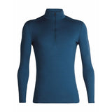 Men's 200 Oasis Long Sleeve Half Zip-Icebreaker-Prussian Blue-L-Uncle Dan's, Rock/Creek, and Gearhead Outfitters