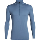 Men's 200 Oasis Long Sleeve Half Zip-Icebreaker-Thunder-S-Uncle Dan's, Rock/Creek, and Gearhead Outfitters