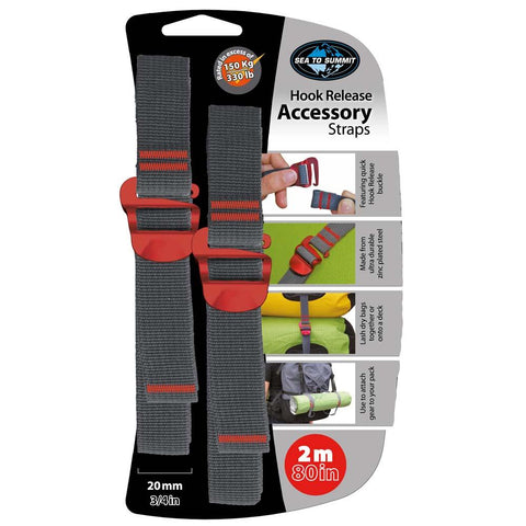 "20mm Accessory Straps with Hook Release 2M/80""-Sea to Summit-Uncle Dan's, Rock/Creek, and Gearhead Outfitters"