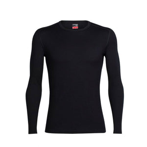 Men's 260 Tech Long Sleeve Crewe-Icebreaker-Black-S-Uncle Dan's, Rock/Creek, and Gearhead Outfitters