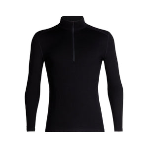 Men's 260 Tech Long Sleeve Half Zip-Icebreaker-Black-S-Uncle Dan's, Rock/Creek, and Gearhead Outfitters