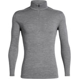 Men's 260 Tech Long Sleeve Half Zip-Icebreaker-Gritstone Heather-S-Uncle Dan's, Rock/Creek, and Gearhead Outfitters