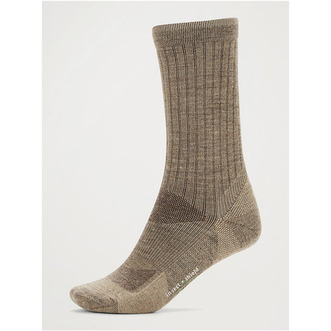 Men's BugsAway Solstice Canyon Crew Socks-ExOfficio-Walnut Brown/Tawny-M/L-Uncle Dan's, Rock/Creek, and Gearhead Outfitters