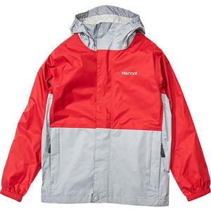 Marmot Boys' PreCip Eco Jacket-41000_Team Red/Sleet