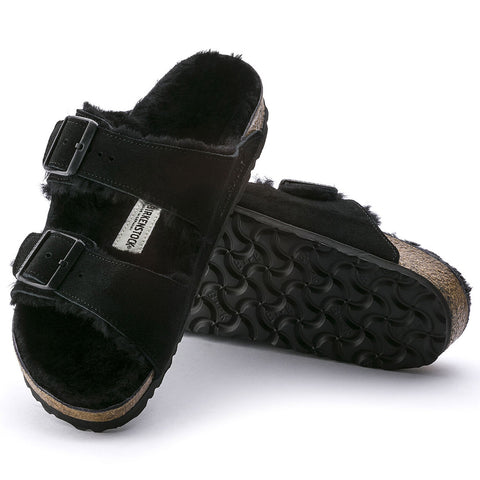 Arizona Shearling Suede Leather-Birkenstock-Black-36-Medium/Narrow-Uncle Dan's, Rock/Creek, and Gearhead Outfitters