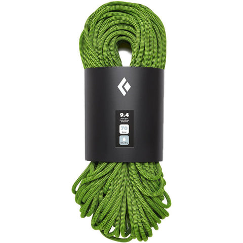 9.4 Dry Climbing Rope-Black Diamond-Envy Green-60M-Uncle Dan's, Rock/Creek, and Gearhead Outfitters