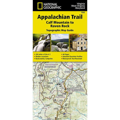 Appalachian Trail Map, Calf Mountain to Raven Rock [VA, WV, MD ]-National Geographic Maps-Uncle Dan's, Rock/Creek, and Gearhead Outfitters