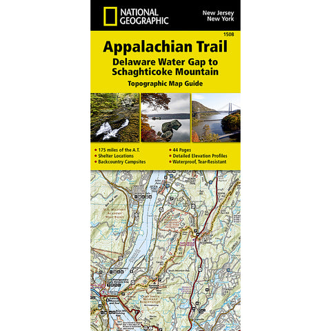 Appalachian Trail Map, Delaware Water Gap to Schaghticoke Mountain [NJ, NY]-National Geographic Maps-Uncle Dan's, Rock/Creek, and Gearhead Outfitters