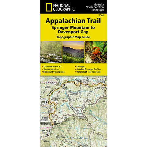 Appalachian Trail Map, Springer Mountain to Davenport Gap [GA,NC,TN]-National Geographic Maps-Uncle Dan's, Rock/Creek, and Gearhead Outfitters