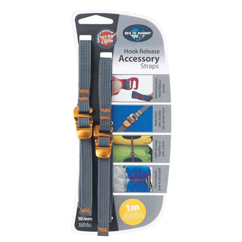 "10 mm Accessory Straps with Hook Release 1M/40""-Sea to Summit-Uncle Dan's, Rock/Creek, and Gearhead Outfitters"