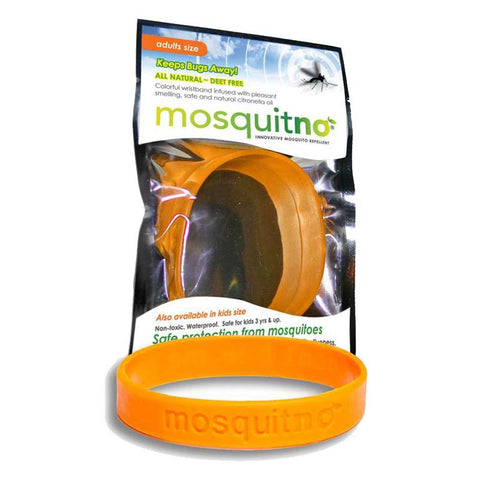 Adult DEET-Free Insect Repellent Band - Orange-Mosquitno-Uncle Dan's, Rock/Creek, and Gearhead Outfitters