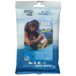 Adventure Bath Wipes Travel Size Package/8