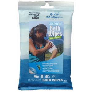 Adventure Bath Wipes - Travel Size, Pkg./8