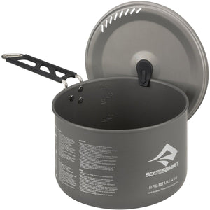 Alpha Pot 1.9 L-Sea to Summit-Grey-Uncle Dan's, Rock/Creek, and Gearhead Outfitters