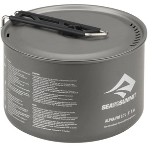 Alpha Pot 2.7 L-Sea to Summit-Grey-Uncle Dan's, Rock/Creek, and Gearhead Outfitters