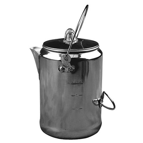 Aluminum Coffee Pot - 9 Cup-Coghlan's-Uncle Dan's, Rock/Creek, and Gearhead Outfitters