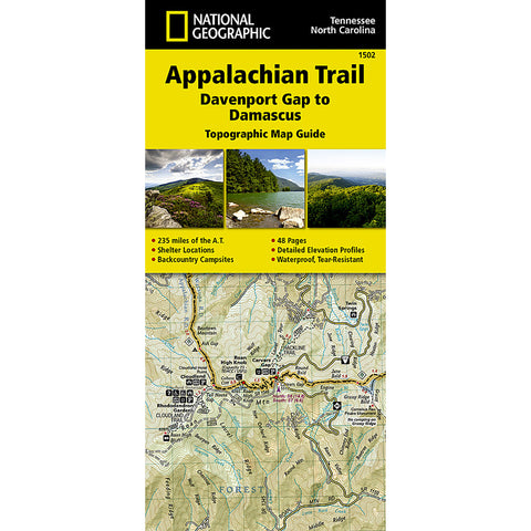Appalachian Trail Map, Davenport Gap to Damascus [NC, TN]-National Geographic Maps-Uncle Dan's, Rock/Creek, and Gearhead Outfitters