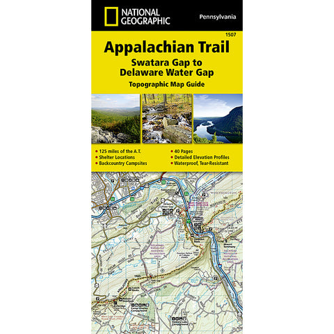 Appalachian Trail Map, Swatara Gap to Delaware Water Gap [PA]-National Geographic Maps-Uncle Dan's, Rock/Creek, and Gearhead Outfitters