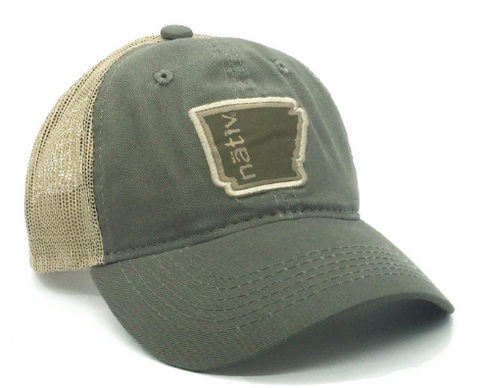 AR Nativ Trucker-Nativ-Moss/Tan-Uncle Dan's, Rock/Creek, and Gearhead Outfitters