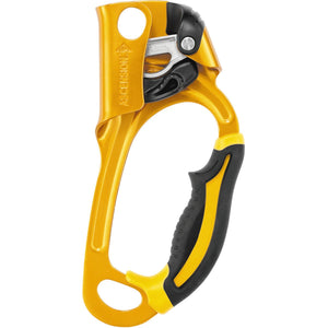 Ascension Ascender-Petzl-Gold-Left-Uncle Dan's, Rock/Creek, and Gearhead Outfitters