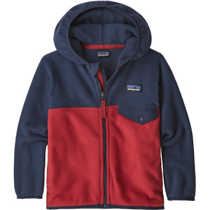 Baby Micro D Snap-T Jacket-Patagonia-Fire w New Navy-6-12M-Uncle Dan's, Rock/Creek, and Gearhead Outfitters