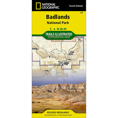 Badlands National Park Map-National Geographic Maps-Uncle Dan's, Rock/Creek, and Gearhead Outfitters