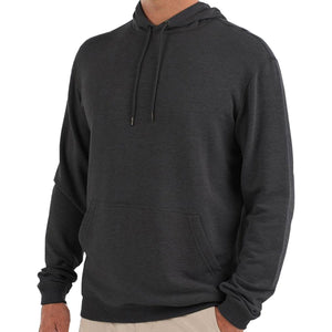 Men's Bamboo Fleece Pullover Hoody-Free Fly-Heather Black-S-Uncle Dan's, Rock/Creek, and Gearhead Outfitters