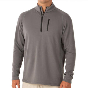 Men's Bamboo Fleece Quarter Zip-Free Fly-Steel Grey-S-Uncle Dan's, Rock/Creek, and Gearhead Outfitters