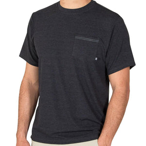 Men's Bamboo Flex Pocket Tee Shirt-Free Fly-Heather Black-S-Uncle Dan's, Rock/Creek, and Gearhead Outfitters