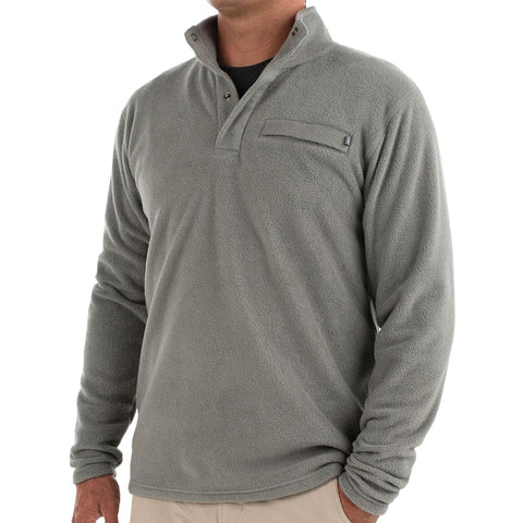 Men's Bamboo Polar Fleece Snap Pullover-Free Fly-Capers Green-S-Uncle Dan's, Rock/Creek, and Gearhead Outfitters