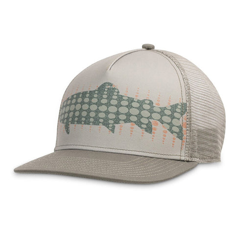 Basin Trucker Hat-Pistil-Olive-Uncle Dan's, Rock/Creek, and Gearhead Outfitters