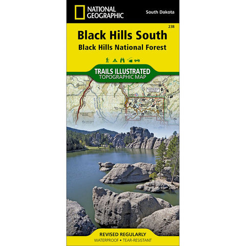 Black Hills South [Black Hills National Forest] Map-National Geographic Maps-Uncle Dan's, Rock/Creek, and Gearhead Outfitters