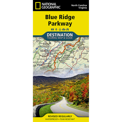 Blue Ridge Parkway Map-National Geographic Maps-Uncle Dan's, Rock/Creek, and Gearhead Outfitters