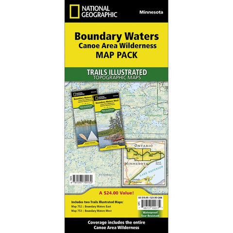 Boundary Waters Canoe Area Wilderness [Map Pack Bundle] Map-National Geographic Maps-Uncle Dan's, Rock/Creek, and Gearhead Outfitters