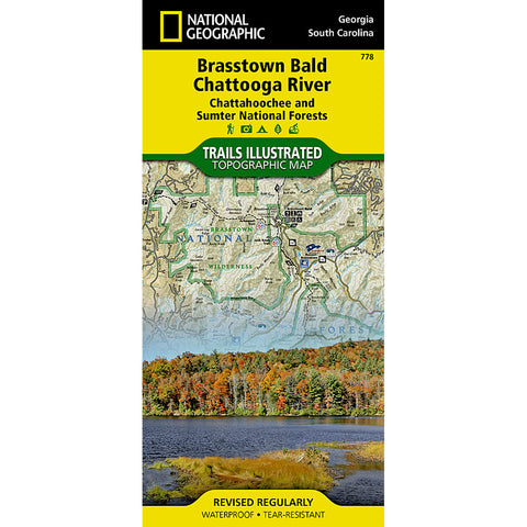 Brasstown Bald, Chattooga River [Chattahoochee, Sumter NF ] Map-National Geographic Maps-Uncle Dan's, Rock/Creek, and Gearhead Outfitters