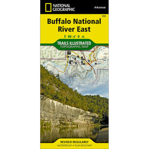 Buffalo National River East Map-National Geographic Maps-Uncle Dan's, Rock/Creek, and Gearhead Outfitters