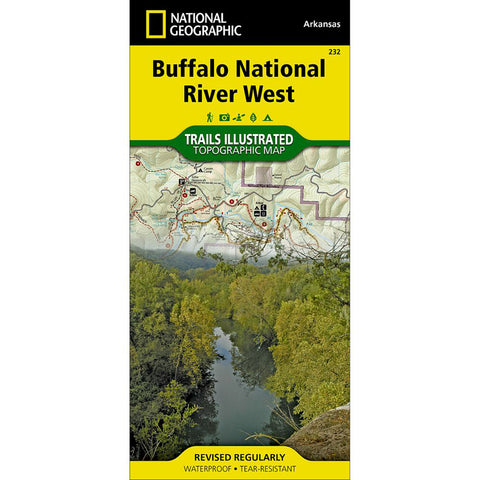 Buffalo National River West Map-National Geographic Maps-Uncle Dan's, Rock/Creek, and Gearhead Outfitters