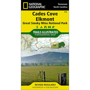 Cades Cove, Elkmont: Great Smoky Mountains National Park Map