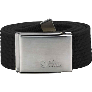 Canvas Belt-Fjallraven-Black-Uncle Dan's, Rock/Creek, and Gearhead Outfitters