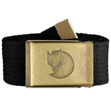 Canvas Brass Belt - 4 cm-Fjallraven-F Black-Uncle Dan's, Rock/Creek, and Gearhead Outfitters
