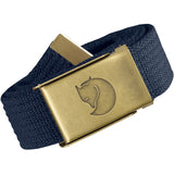 Canvas Brass Belt - 4 cm-Fjallraven-Dark Navy-Uncle Dan's, Rock/Creek, and Gearhead Outfitters