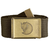 Canvas Brass Belt - 4 cm-Fjallraven-Dark Olive-Uncle Dan's, Rock/Creek, and Gearhead Outfitters