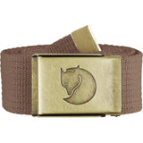 Canvas Brass Belt - 4 cm-Fjallraven-Dark Sand-Uncle Dan's, Rock/Creek, and Gearhead Outfitters
